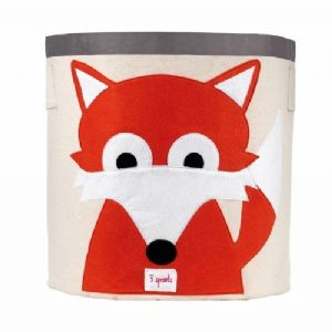 3 Sprouts Storage Bin - Fox Orange